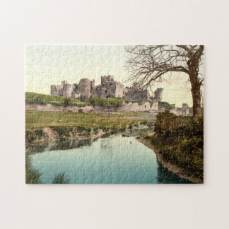 Castillo de Caerphilly, País de Gales Puzzle Con Fotos