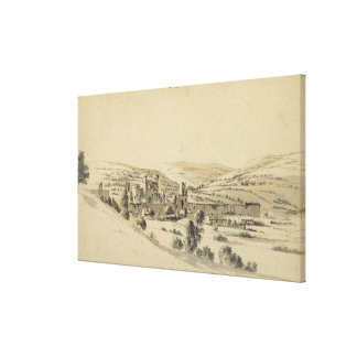 Castillo de Caerphilly (pluma, tinta y lavado en e Impresión En Lona Estirada
