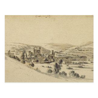 Castillo de Caerphilly (pluma, tinta y lavado en Tarjetas Postales
