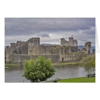 Castillo de Caerphilly Tarjeta De Felicitación