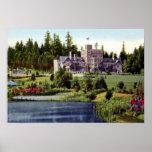 Castillo de Canadá Hatley de la Columbia Británica Impresiones