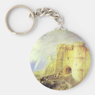 Castillo de Carisbrook, isla del Wight de Llavero Redondo Tipo Pin