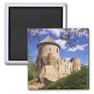 Castillo de Cesis en Letonia central Imán Cuadrado