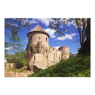 Castillo de Cesis en Letonia central Impresion Fotografica