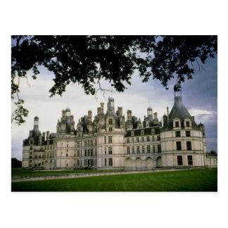Castillo de Chambord, el valle del Loira, Francia Tarjeta Postal