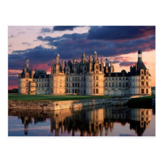 castillo de chateau de chambord, el valle del postal