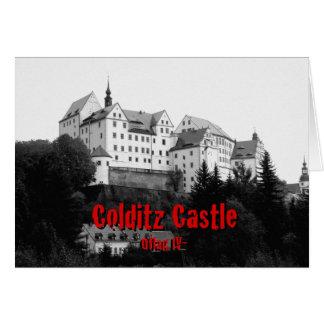 Castillo de Colditz Tarjeta De Felicitación