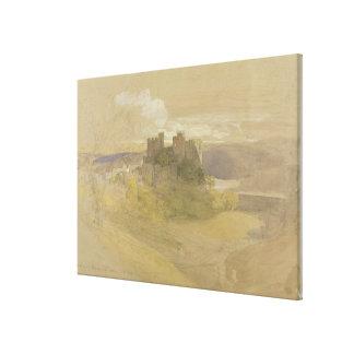 Castillo de Conway (grafito, w/c y aguazo en el pa Lona Estirada Galerías