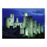 Castillo de Conwy, Gwynedd, País de Gales Tarjeta De Felicitación