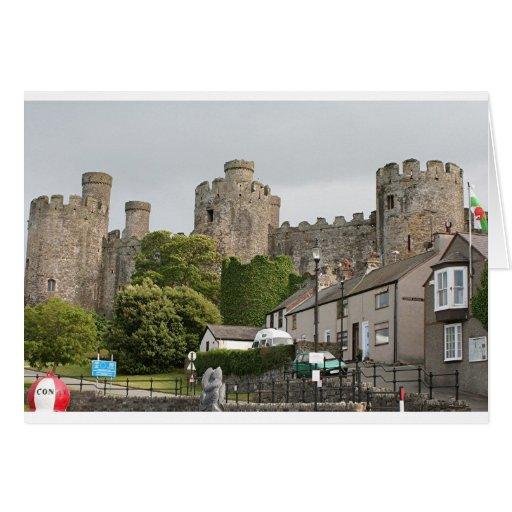 Castillo de Conwy, País de Gales, Reino Unido Tarjeta De Felicitación