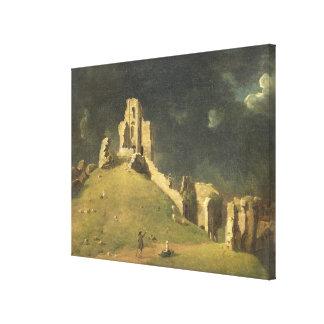 Castillo de Corfe, Dorset, 1764 (aceite en lona) Lienzo Envuelto Para Galerias