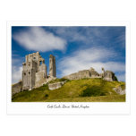Castillo de Corfe, postal de Dorset, Reino Unido