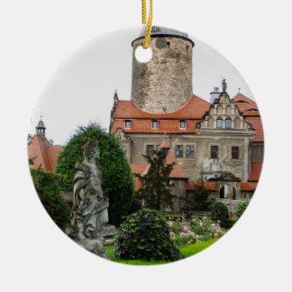 Castillo de Czocha en Polonia, arquitectura Adorno Navideño Redondo De Cerámica