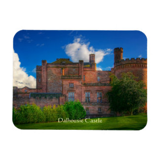 Castillo de Dalhousie, Midlothian, Escocia Rectangle Magnet