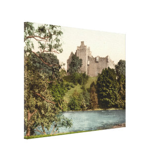Castillo de Doune impresión de la lona de Stirlin Impresión De Lienzo