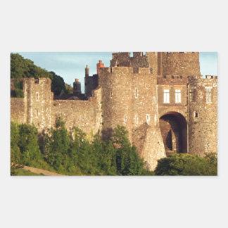 Castillo de Dover, Inglaterra, Reino Unido 3 Rectangular Pegatinas