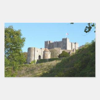 Castillo de Dover Rectangular Pegatina