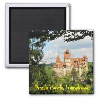 Castillo de Drácula en Transilvania, Rumania Imán Cuadrado