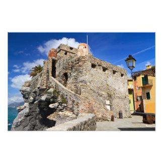 Castillo de Dragonara en Camogli Impresion Fotografica