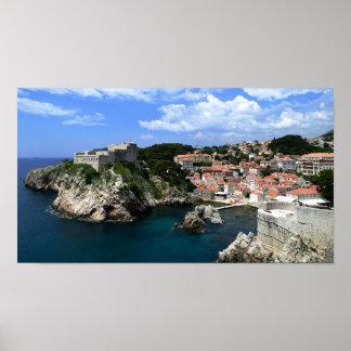 Castillo de Dubrovnik Póster