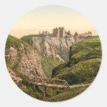 Castillo de Dunottar, Stonehaven, Escocia Pegatina Redonda