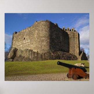 Castillo de Dunstaffnage, Argyll y Bute, Escocia Poster