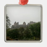 Castillo de Edimburgo Adorno Navideño Cuadrado De Metal