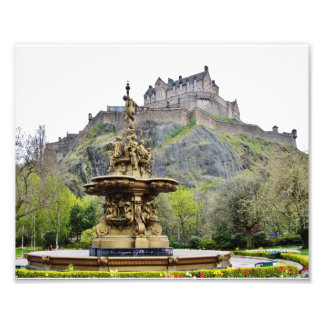 Castillo de Edimburgo de príncipes Street Gardens Fotografias