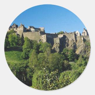 Castillo de Edimburgo, Escocia Pegatina Redonda