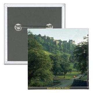 Castillo de Edimburgo, Escocia Pin Cuadrado