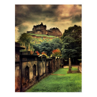 Castillo de Edimburgo - estilo antiguo Tarjeta Postal