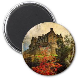 Castillo de Edimburgo Imán Redondo 5 Cm