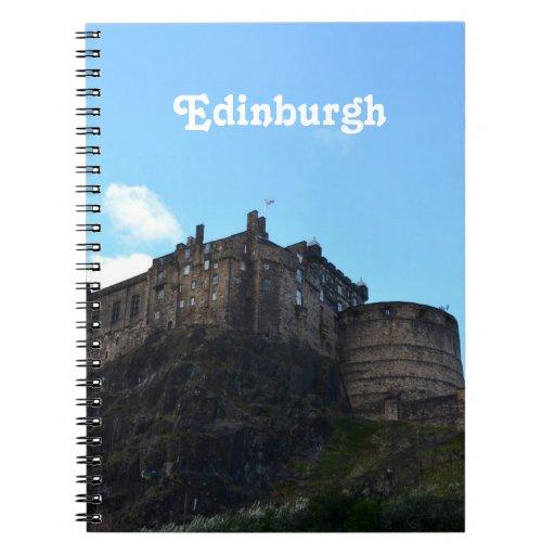 Castillo de Edimburgo Libro De Apuntes Con Espiral