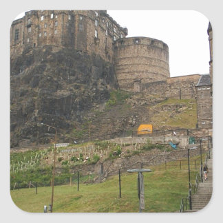 Castillo de Edimburgo Pegatina Cuadrada