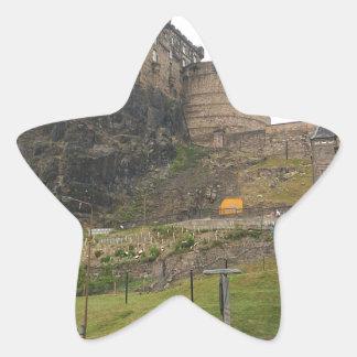 Castillo de Edimburgo Pegatina En Forma De Estrella