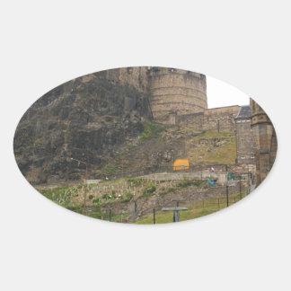 Castillo de Edimburgo Pegatina Ovalada