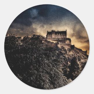Castillo de Edimburgo Pegatina Redonda