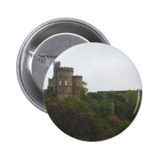 Castillo de Edimburgo Pin Redondo De 2 Pulgadas