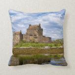 Castillo de Eilean Donan del panorama visto del su Almohadas