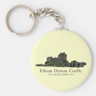 Castillo de Eilean Donan Llavero Redondo Tipo Pin