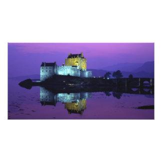 Castillo de Eilean Donan, montañas, Escocia 4 Fotografía