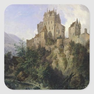 Castillo de Eltz Pegatina Cuadrada