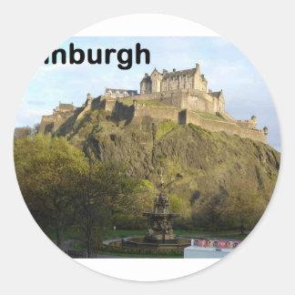 Castillo de Escocia Edimburgo (St.K) Pegatina Redonda