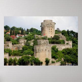 Castillo de Europa en Turquía Póster