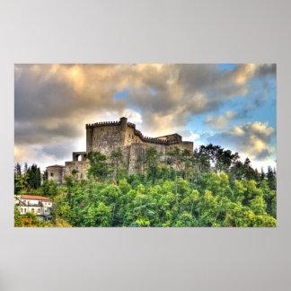 Castillo de Fosdinovo, Italia Poster