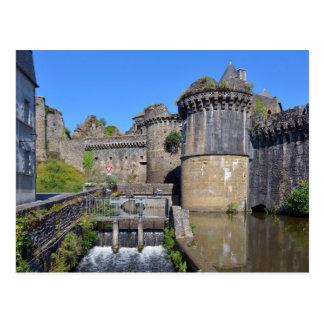 Castillo de Fougères en Francia Tarjeta Postal