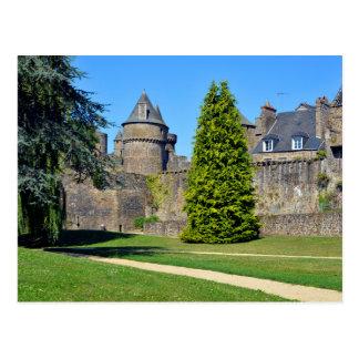 Castillo de Fougères en Francia Tarjetas Postales