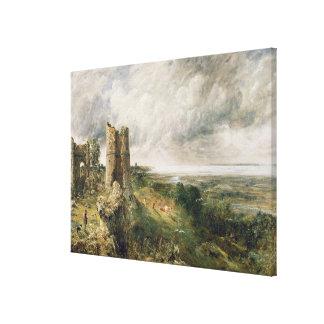 Castillo de Hadleigh, 1829 (aceite en lona) Lona Envuelta Para Galerías