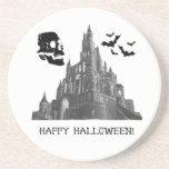 Castillo de Halloween con el cráneo y el palo Posavasos Manualidades