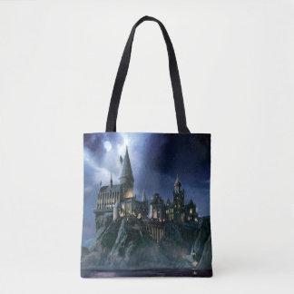 Castillo de Harry Potter el | Hogwarts en la noche Bolsa De Tela